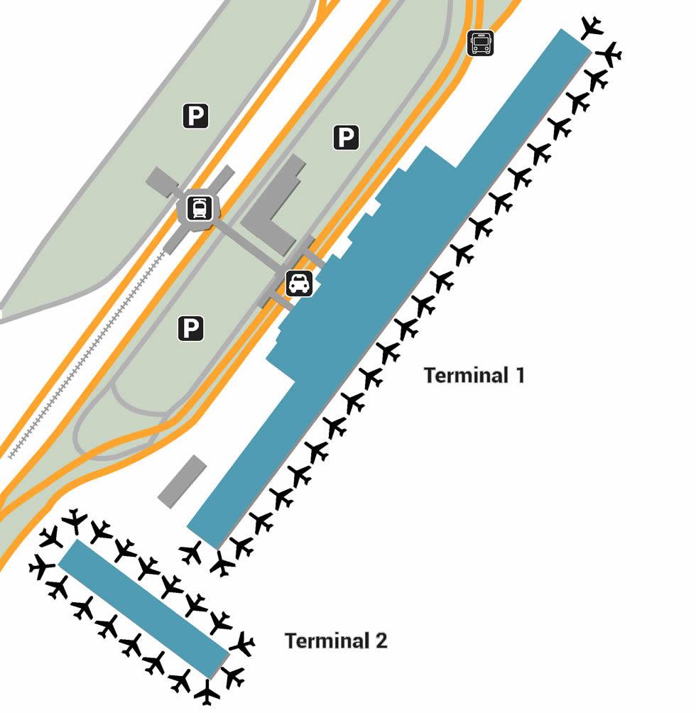 Athens airport terminals
