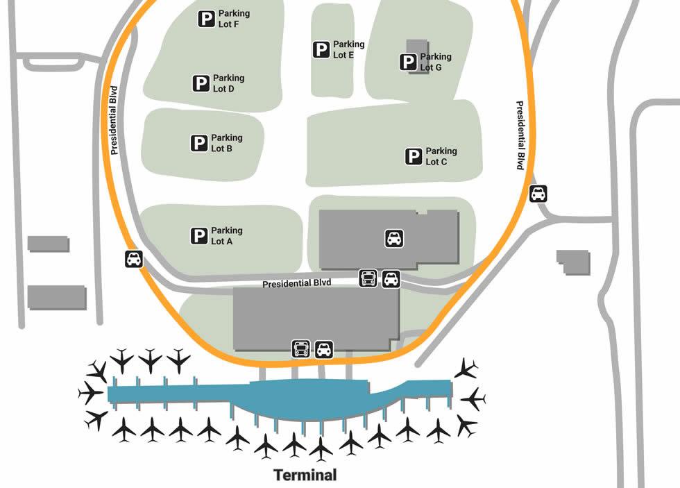 AUS airport terminals
