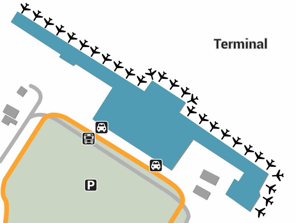 BAH airport terminals