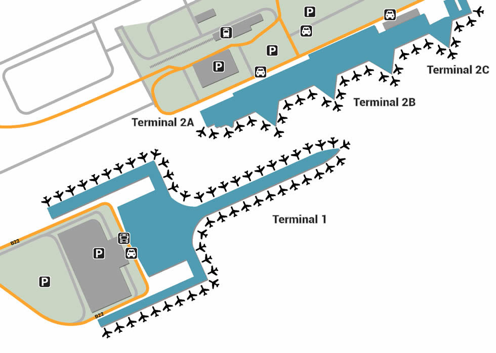 barcelona airport terminal 2b map Barcelona Airport Pick Up And Drop Off barcelona airport terminal 2b map