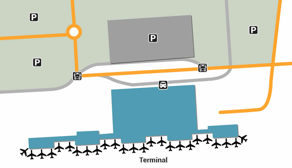 BLL airport terminals