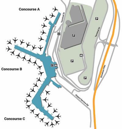 BNA airport terminals