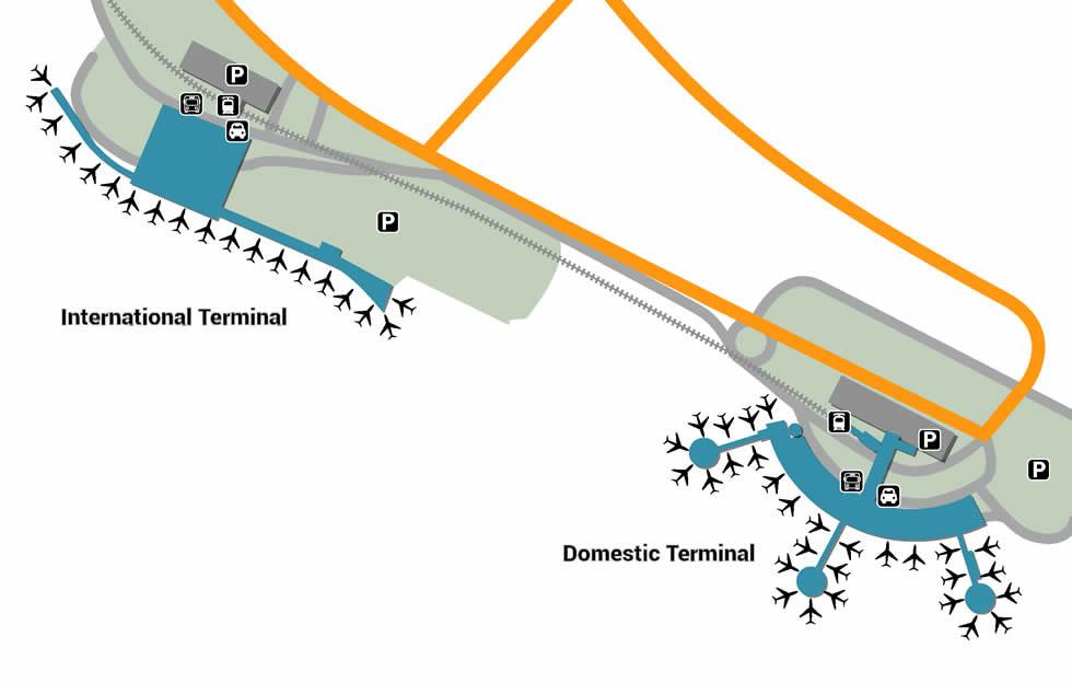 BNE airport terminals