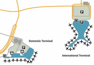 BOM airport terminals