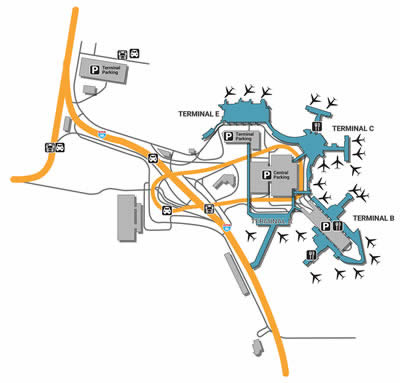 BOS airport terminals