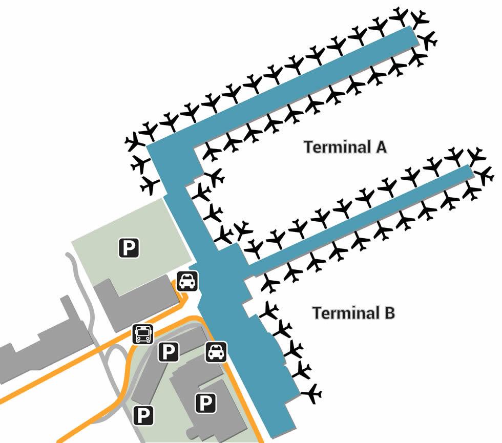 BRU airport terminals