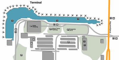 BUR airport terminals