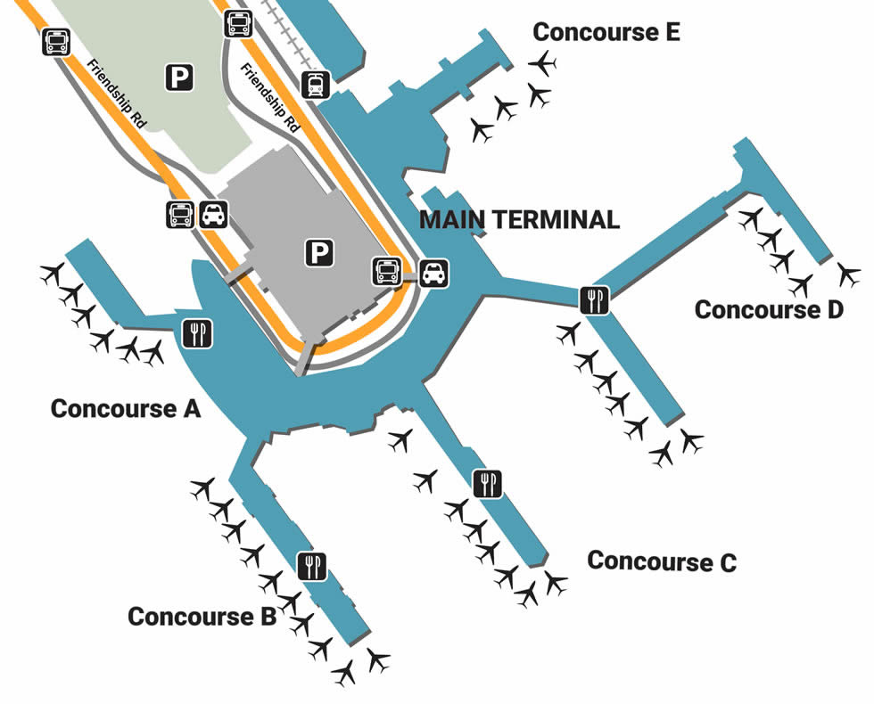 baltimore international airport terminal map Bwi Airport Pick Up And Drop Off baltimore international airport terminal map