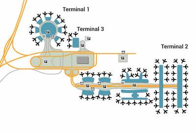 CDG airport terminals