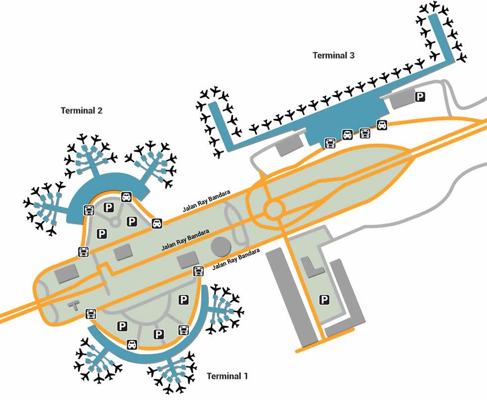 CGK airport terminals