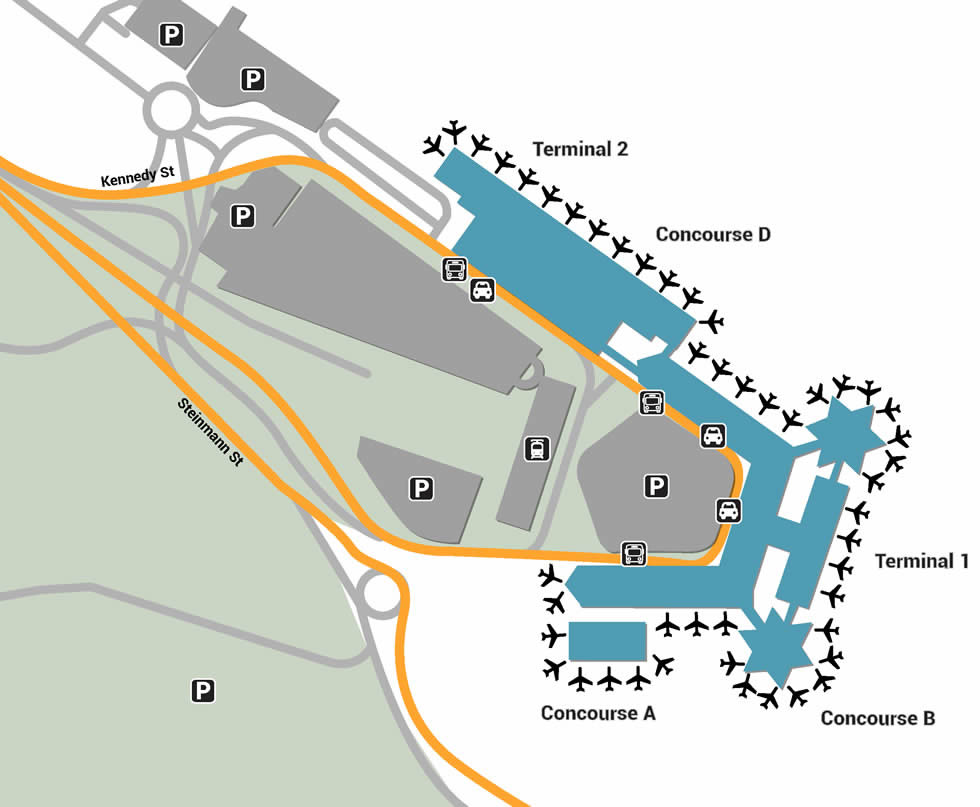 CGN airport terminals