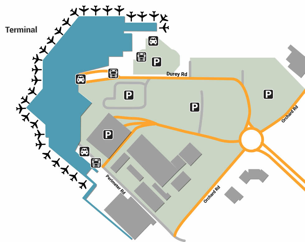 CHC airport terminals