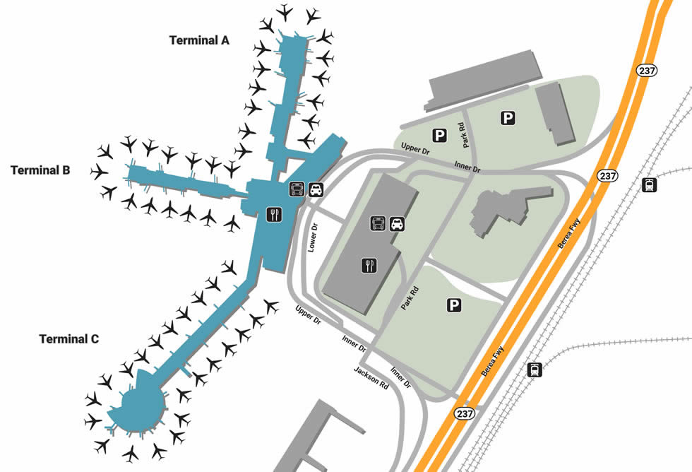cleveland airport terminal map Cle Airport Pick Up And Drop Off cleveland airport terminal map