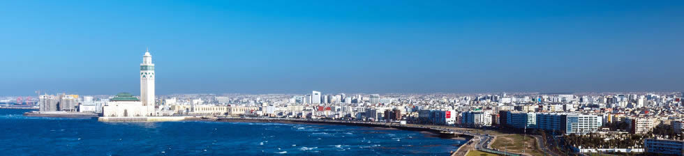 Casablanca from the coast