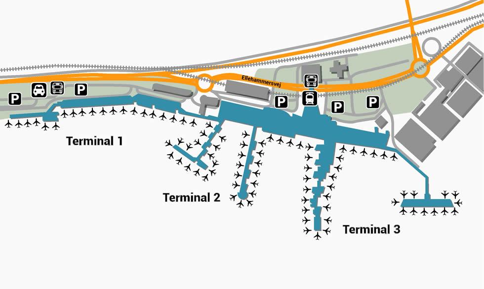 Kööpenhaminan lentokenttä: terminaalit