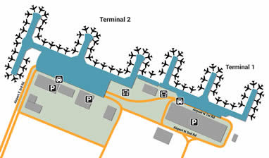 CTU airport terminals