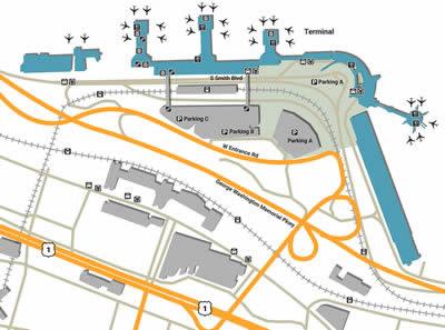 DCA airport terminals
