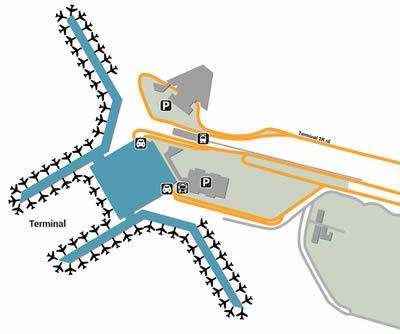 DEL airport terminals