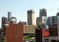 Landmark building in Detroit