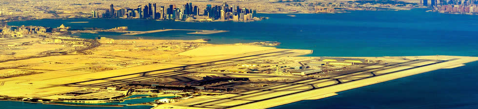 Doha airport shuttles in terminals