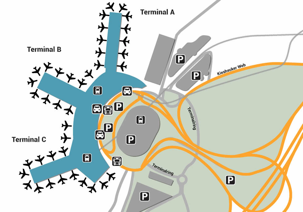 DUS airport terminals