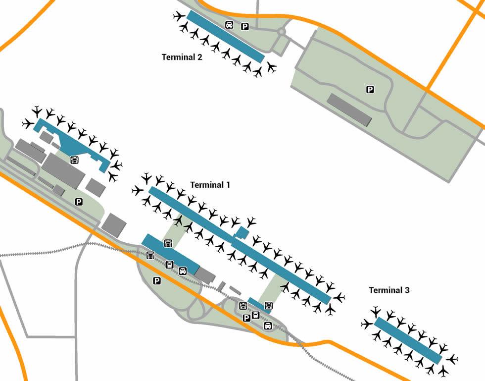 DXB airport terminals