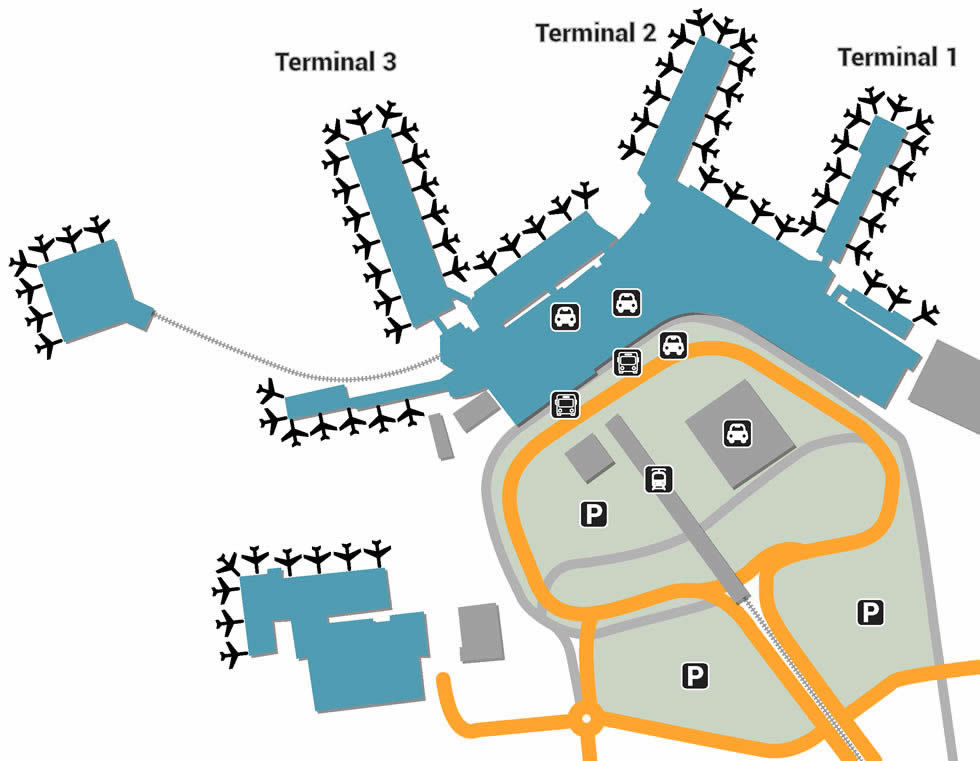 FCO airport terminals