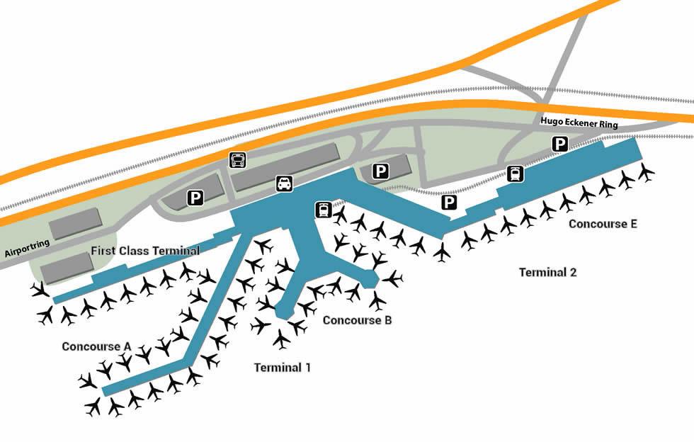 FRA airport terminals