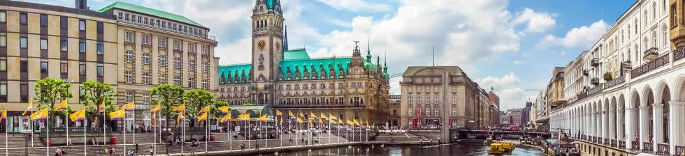 Hamburg airport shuttles in terminals