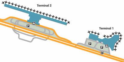 HAN airport terminals