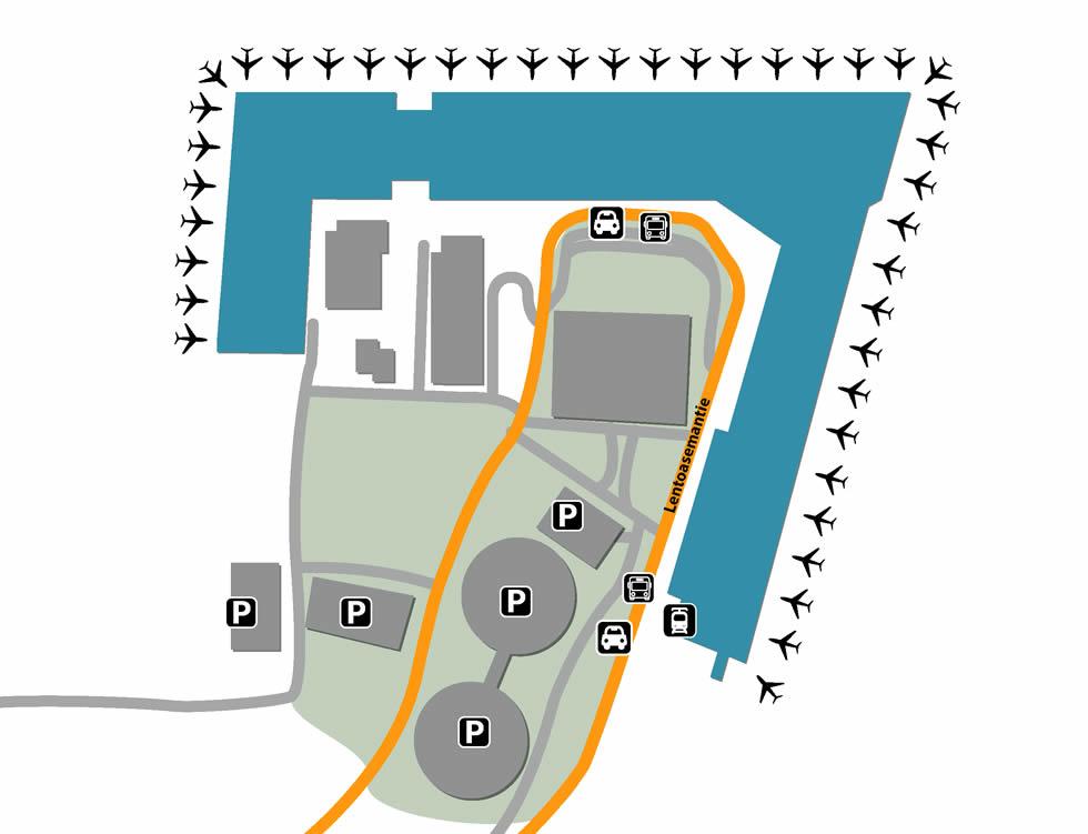 HEL airport terminals