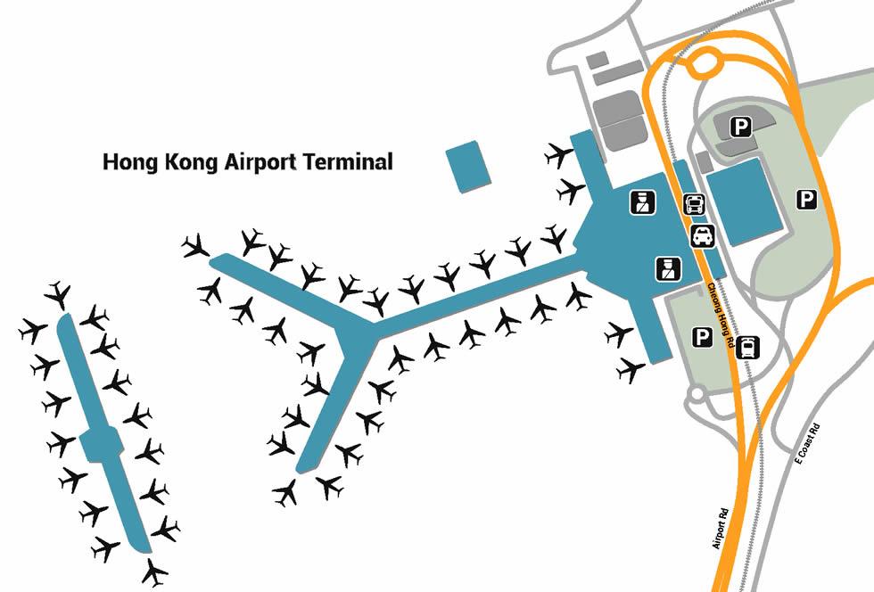 Hong Kong airport terminals