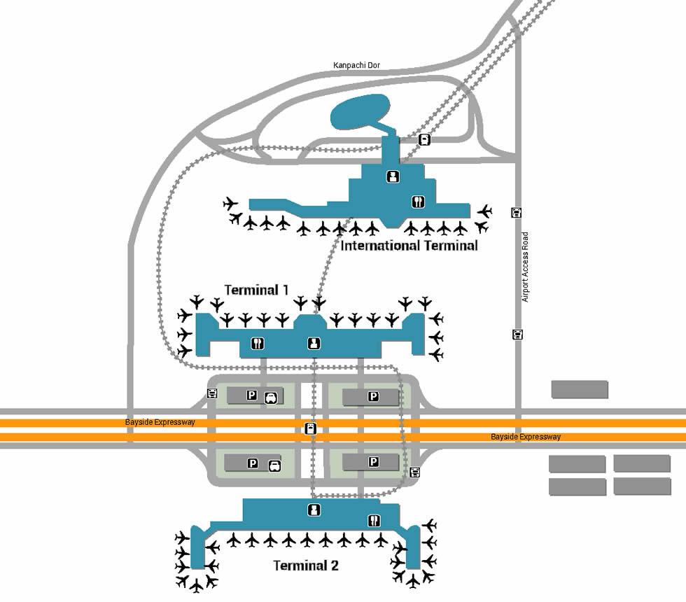 Tokyo Haneda airport terminals