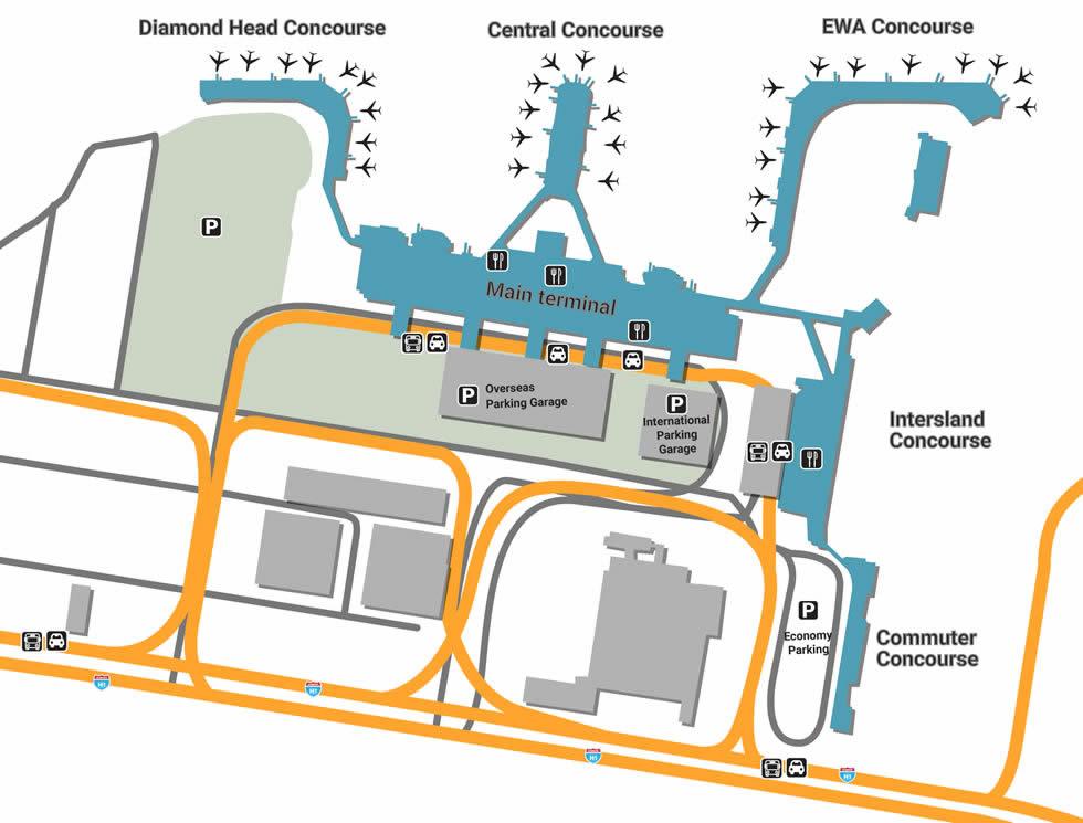 HNL airport terminals