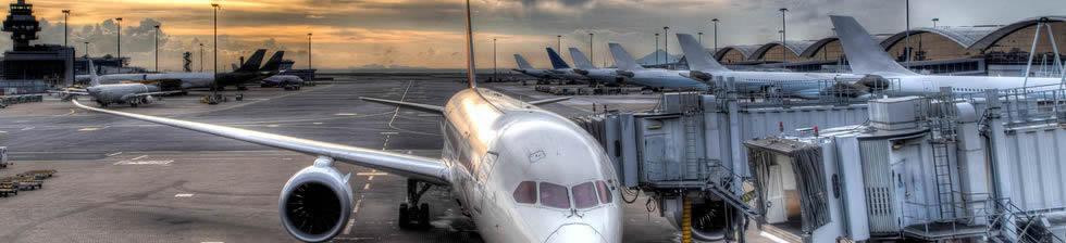 Hong Kong airport shuttles in terminals