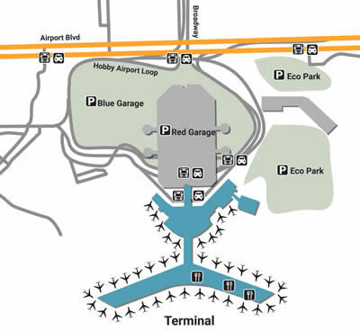 HOU airport terminals