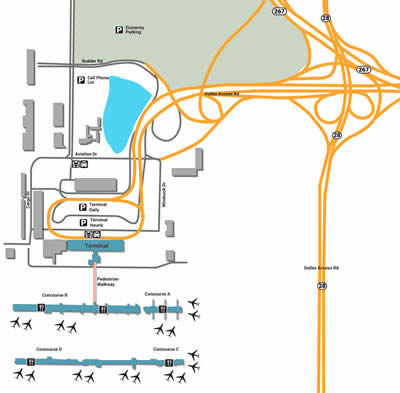 IAD airport terminals