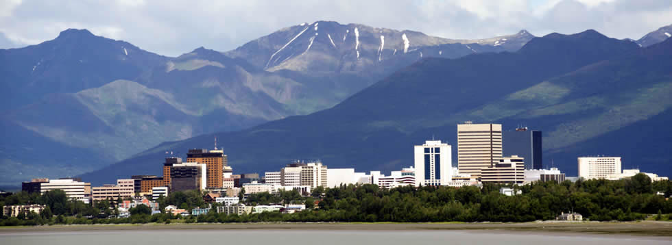 Tourists in Anchorage