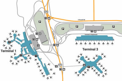 LAS airport terminals