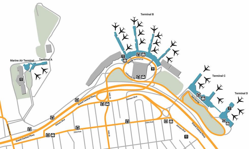 LGA airport terminals