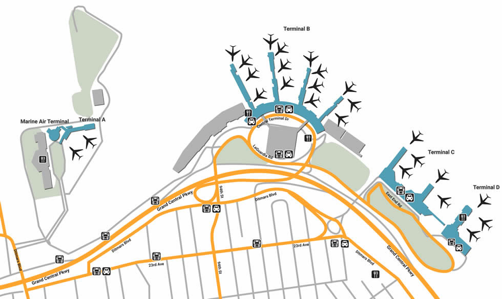 Laguardia Airport Subway Map.Lga Airport Pick Up And Drop Off