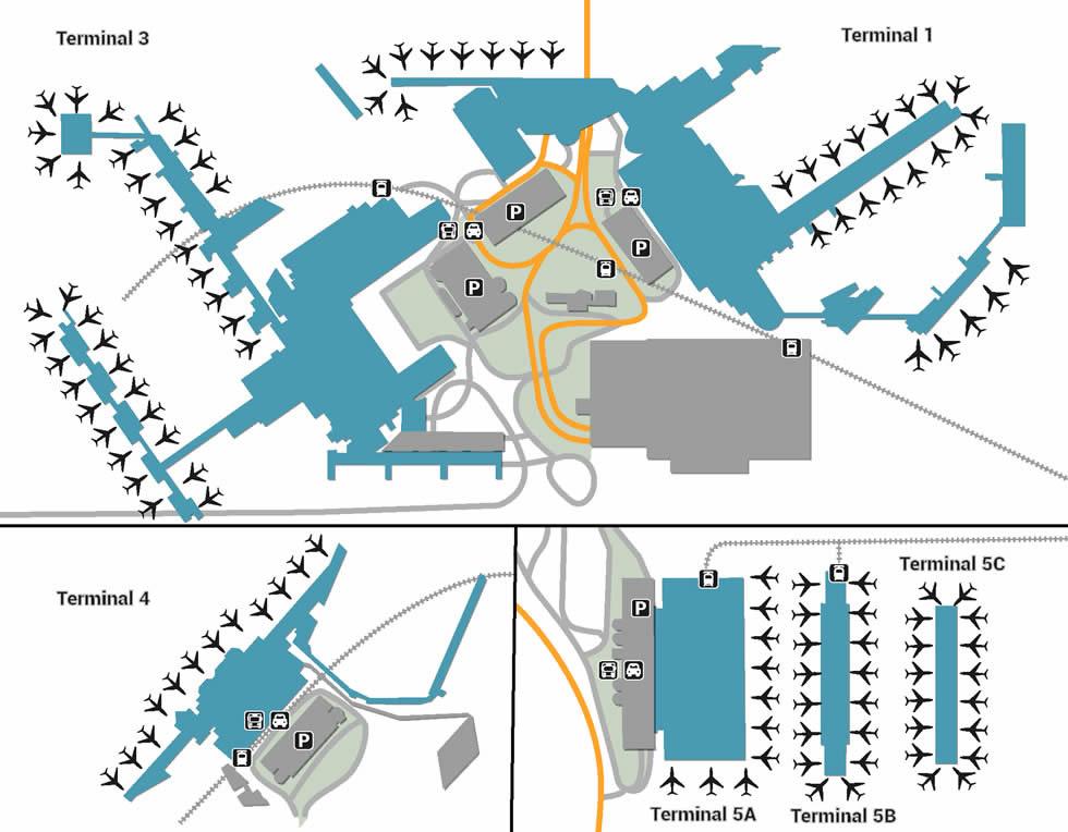 LHR airport terminals
