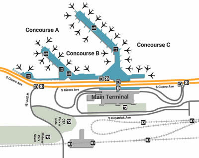 midway airport arrivals map Chicago Mdw Airport Shuttle Service midway airport arrivals map