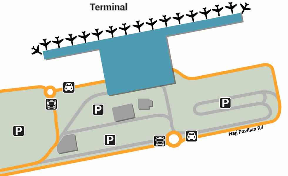 MED airport terminals