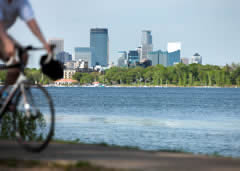 Bike trails in Minneapolis