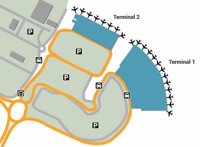 MRU airport terminals