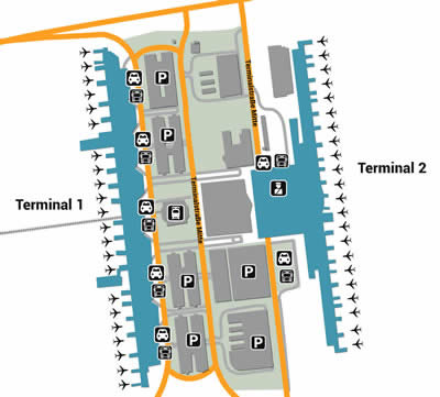 MUC airport terminals