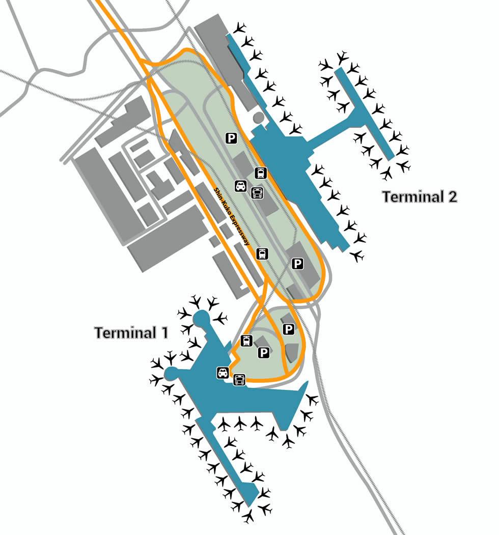 NRT airport terminals