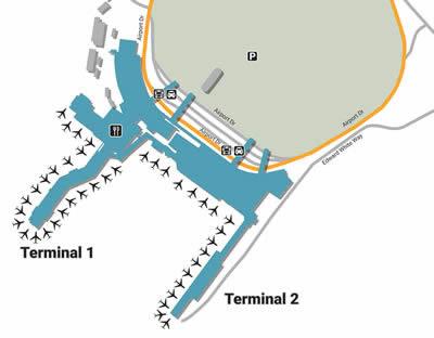 OAK airport terminals