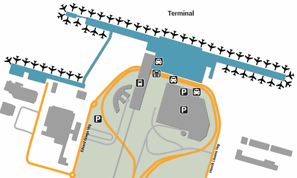 OSL airport terminals